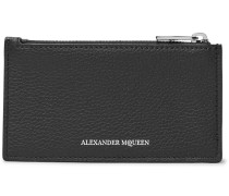 Full-grain Leather Zipped Cardholder - Black