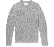 Slim-Fit Mélange Cotton Sweater