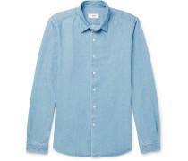 Washed-denim Shirt - Blue
