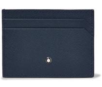 Sartorial Two-Tone Cross-Grain Leather Cardholder
