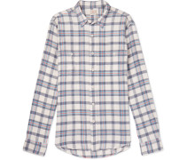 Seasons Checked Cotton-flannel Shirt