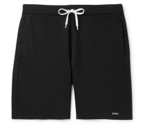 Loopback Cotton-jersey Sweat Shorts - Black
