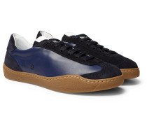 Lars Suede And Leather Sneakers - Navy