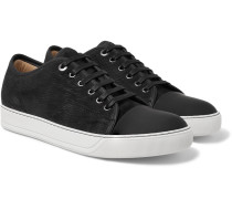 Cap-toe Nubuck And Rubberised-leather Sneakers