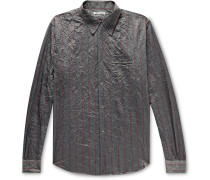 Policy Crinkled Striped Woven Shirt