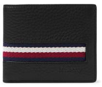 Webbing-Trimmed Full-Grain Leather Billfold Wallet