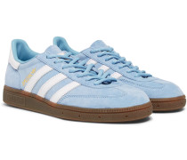 Handball Spezial Leather-trimmed Suede Sneakers - Light blue