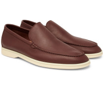 Summer Walk Leather Loafers - Brown
