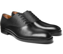 Stanford Smooth and Textured-Leather Oxford Shoes