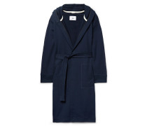Mélange Loopback Cotton-Jersey Hooded Robe