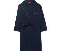 Piped Cotton and Cashmere-Blend Robe