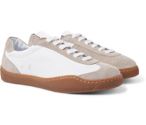 Lars Suede And Leather Sneakers - Neutral