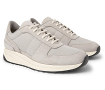 Track Vintage Nubuck And Mesh Sneakers - Gray