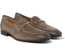 Burnished-suede Loafers