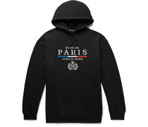 Oversized Embroidered Fleece-Back Cotton-Jersey Hoodie