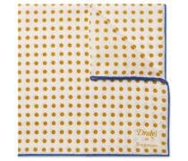 + Drake's Polka-Dot Linen Pocket Square