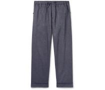 Brushed Cotton-Twill Pyjama Trousers