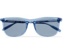 D-frame Acetate Sunglasses - Light blue
