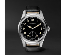 Summit 46mm Stainless Steel And Leather Smart Watch