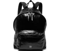 Creased-leather Backpack - Black