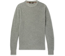 Slim-fit Waffle-knit Baby Cashmere Sweater