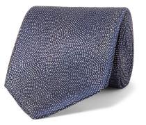 8cm Pin-dot Woven Silk Tie - Blue