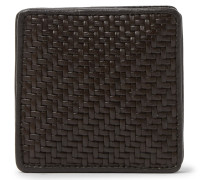 Pelle Tessuta Leather Coin Wallet - Brown