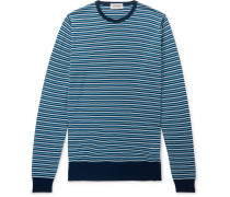 Striped Wool Sweater - Blue