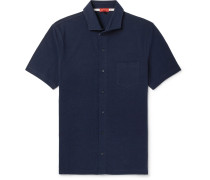Cutaway-collar Cotton-piqué Shirt