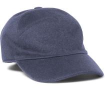 Storm System Baby Cashmere Baseball Cap - Navy