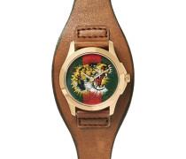 Le Marché Des Merveilles 38mm Gold-tone And Leather Watch
