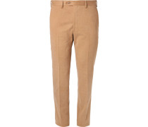 Slim-fit Brushed Cotton-twill Trousers