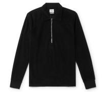 Cotton-Blend Corduroy Half-Zip Shirt