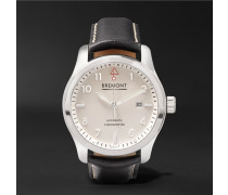 Solo P/w Automatic 43mm Stainless Steel And Leather Watch - White