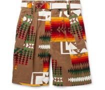 + Pendleton Printed Cotton-corduroy Shorts - Brown
