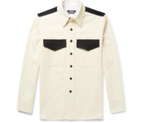 Contrast-trimmed Wool-twill Shirt