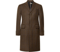 Slim-fit Herringbone Stretch-wool Tweed Coat