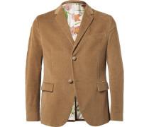 Brown Slim-fit Corduroy Blazer