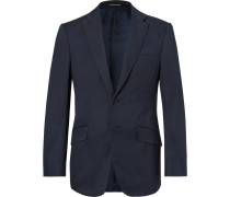 Navy Seishin Slim-fit Stretch-cotton Twill Suit Jacket - Navy