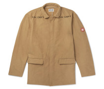 Logo-embroidered Brushed-twill Jacket - Tan