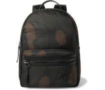 New George Leather-trimmed Camouflage-print Shell Backpack