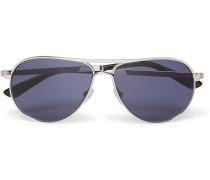 Marko Aviator-style Silver-tone Sunglasses