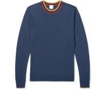 Stripe-trimmed Wool Sweater