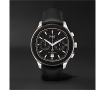 Limited Edition Polo S Automatic Chronograph 42mm Adlc-coated Stainless Steel And Leather Watch