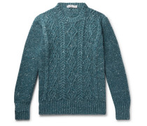Cable-Knit Donegal Merino Wool and Cashmere-Blend Sweater