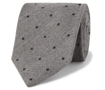 8cm Polka-dot Wool And Silk-blend Tie - Gray