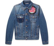 Slim-fit Embellished Denim Jacket