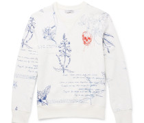 Explorer Embroidered Loopback Cotton-jersey Sweatshirt