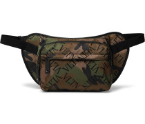 Valentino Garavani Leather-Trimmed Printed Nylon Belt Bag