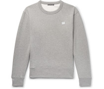 Fairview Face Mélange Fleece-back Cotton-jersey Sweatshirt